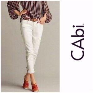 Cabi #752 Indie Straight Leg White Jeans 8